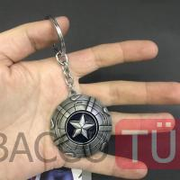 The Avengers Captain America  3d Logo Metal Anahtarlık